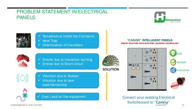 PROBLEM STATEMENT IN ELECTRICAL PANELS  Temperature inside the Enclosure  Heat Trap  Deterioration of Insulation  Smok...