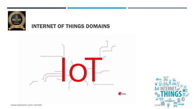 INTERNET OF THINGS DOMAINS 12/26/2020VIKRAM NEERUGATTI, SVCET, CHITTOOR. 4