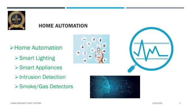 HOME AUTOMATION Home Automation Smart Lighting Smart Appliances Intrusion Detection Smoke/Gas Detectors 12/26/2020VIK...