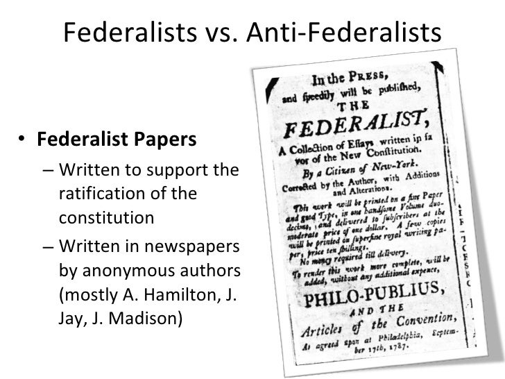 federalists vs. anti-federalists essay Ap® united states history 2008 scoring guidelines (form b) question 2 analyze the reasons for the anti-federalists' opposition to ratifying the constitution the 8-9 essay.