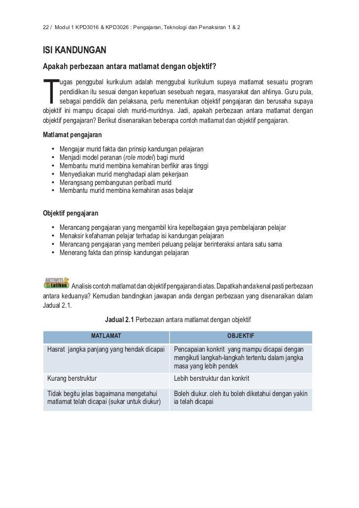 Unit 2 Modul 1 Matlamat Dan Objektif Pengajaran V2