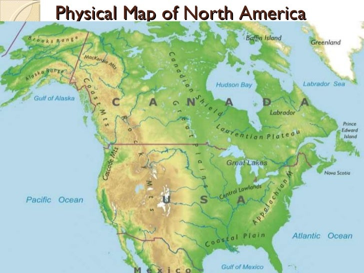 Unit North America - United states map 5 great lakes