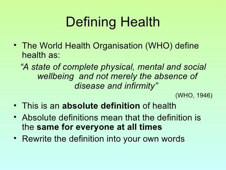Unit 2 - Sociology Of Healthintro