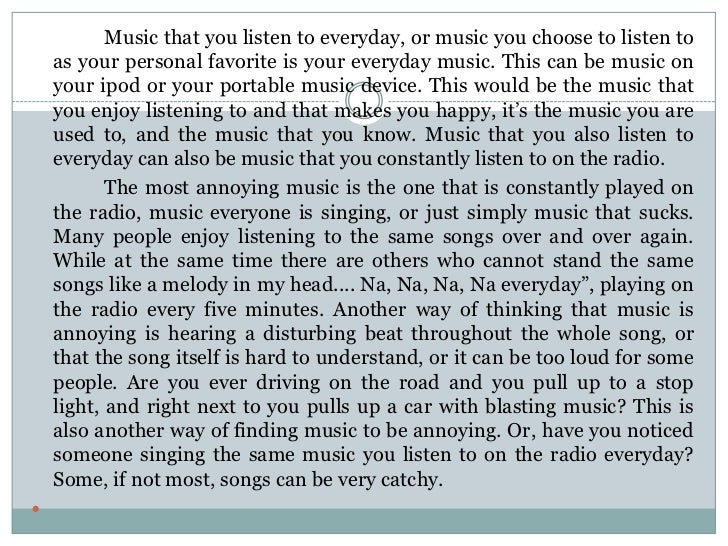 Essay on classification of music