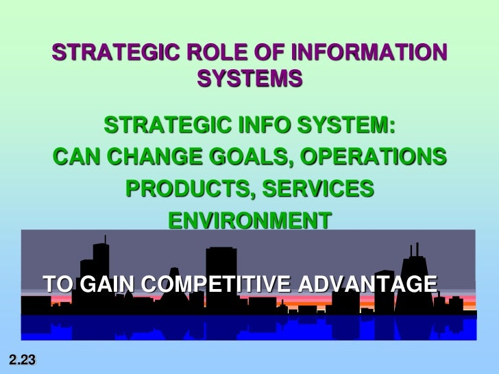Role of information systems in thomas