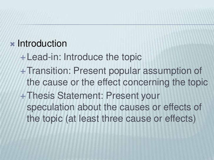cause and effect essay introduction