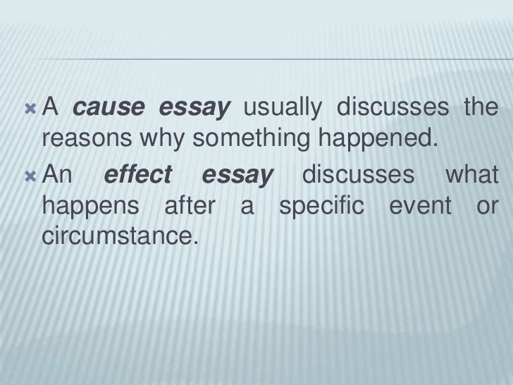 unit cause effect essay <br > 4 a cause essay