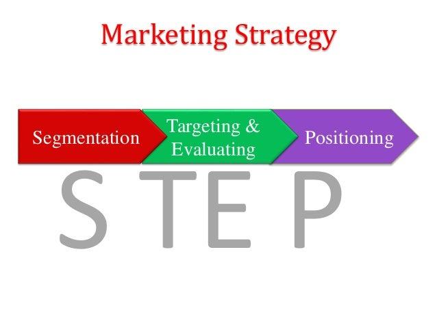 S TE P Positioning Targeting & Evaluating Marketing Strategy Segmentation