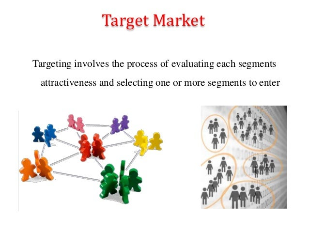 Target Market Targeting involves the process of evaluating each segments attractiveness and selecting one or more segments...