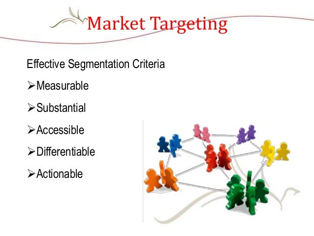 Market Targeting Effective Segmentation Criteria Measurable Substantial Accessible Differentiable Actionable