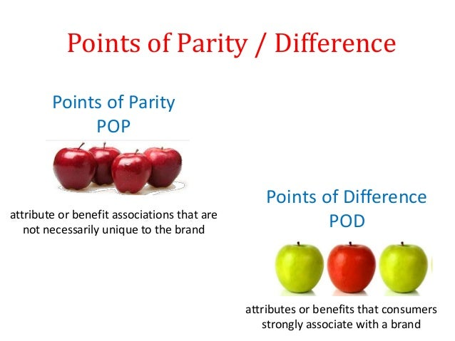 points of parity and points of Video created by ie business school for the course positioning: what you need for a successful marketing strategy in the third module, the second element of positioning is addressed: value proposition and differentiation both the value.
