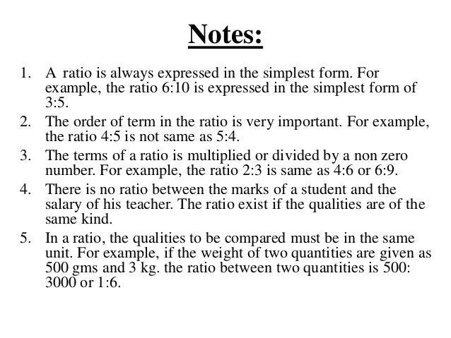 Unit 3 ratio, proportion, profit and loss