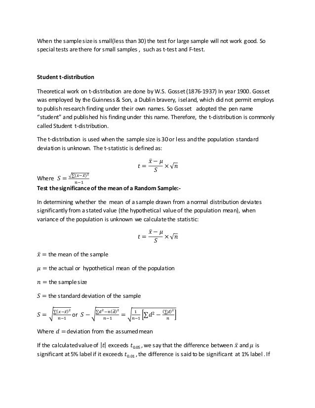 Unit 4 Tests of Significance
