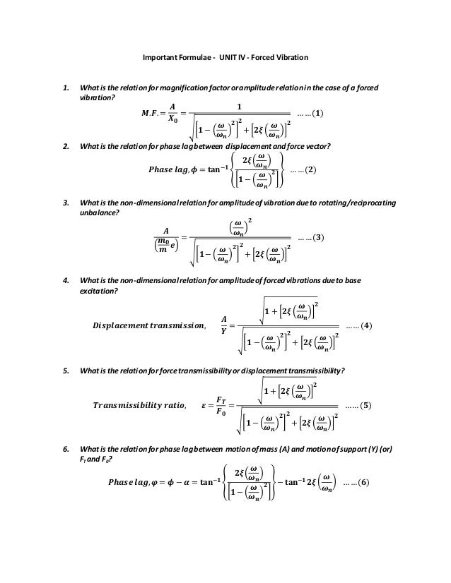 fluid mechanics formula sheet pdf