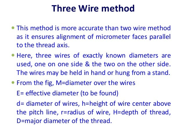 Screw thread measurements and gear measurement three wire method 43 greentooth Image collections