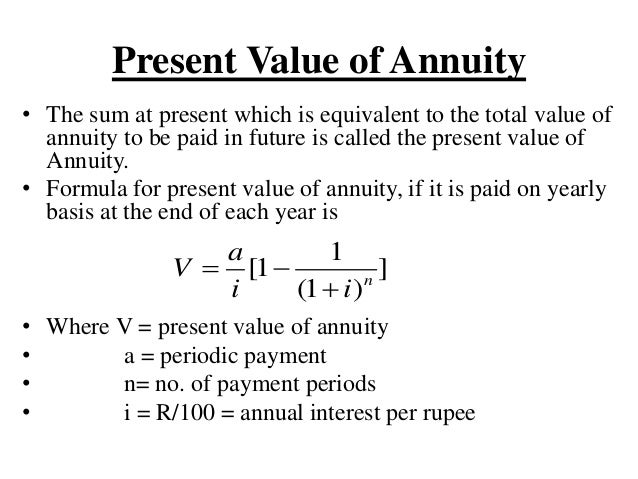Annuity Formula Present Value & Calculating the Present Value of a ...