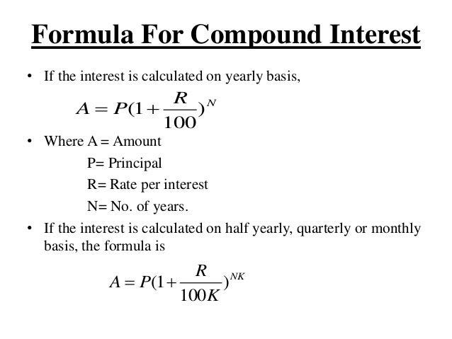 Loan And Interest Formula
