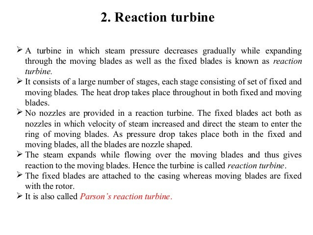 Steam turbine and its types