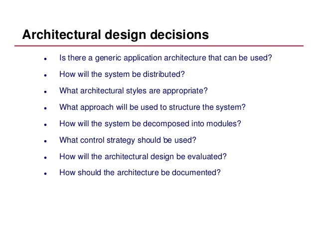 Unit 5 Architectural Design In Software Engineering
