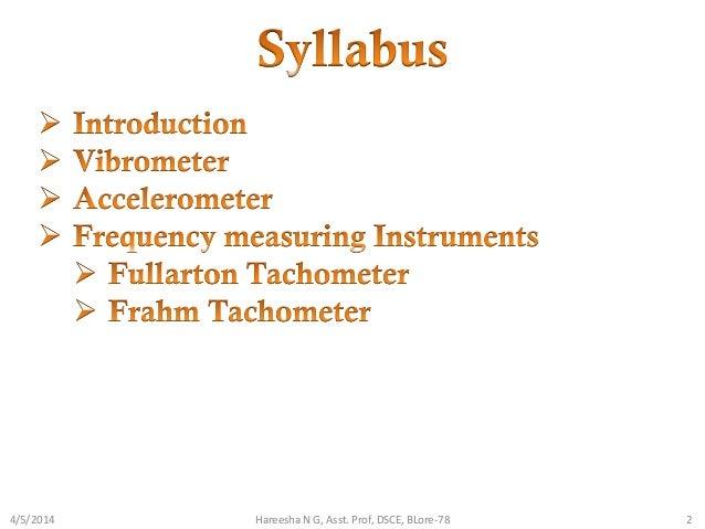 Vibration measuring instruments