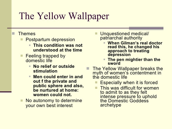 The yellow wallpaper feminist thesis statement