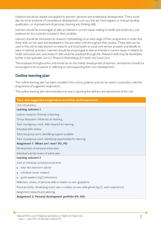 unit 6 personal and development Unit 022 understand child and young person development level: 3  credit value: 4  unit 022 understand child and young person  affected by personal experience .