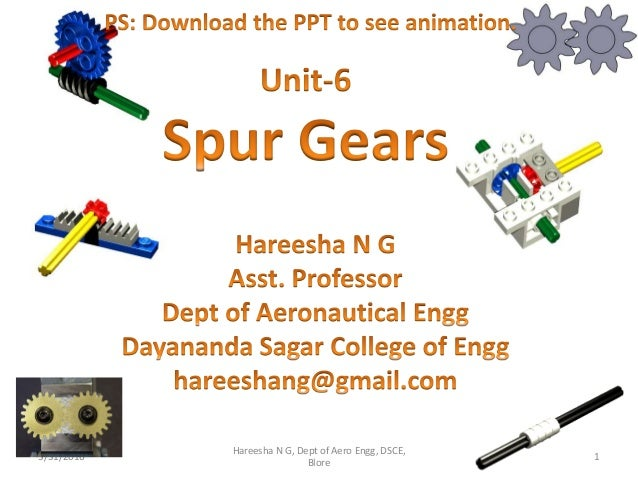 3/31/2016 1 Hareesha N G, Dept of Aero Engg, DSCE, Blore