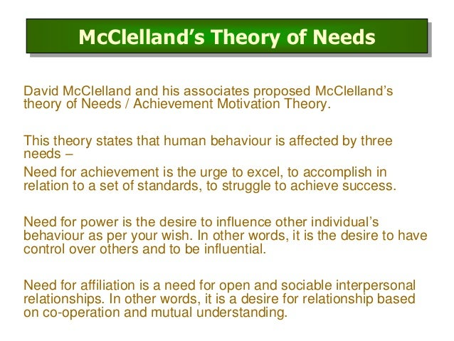 McClelland Motivation Theory