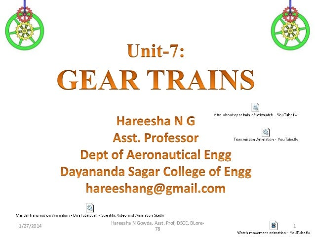 1/27/2014  Hareesha N Gowda, Asst. Prof, DSCE, BLore78  1