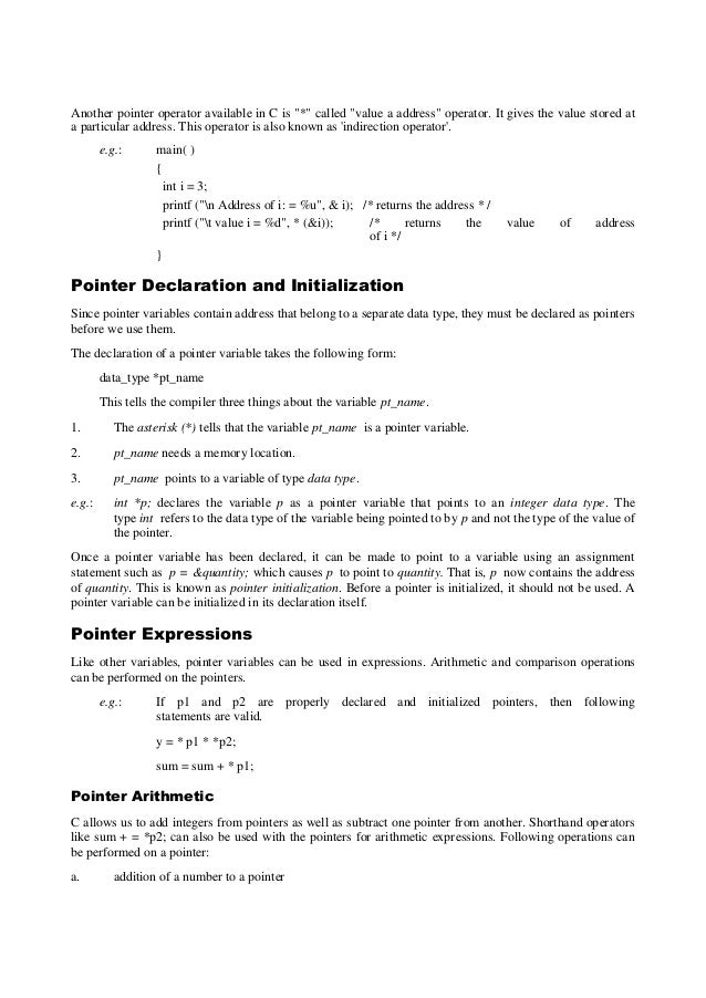 C pointers and references