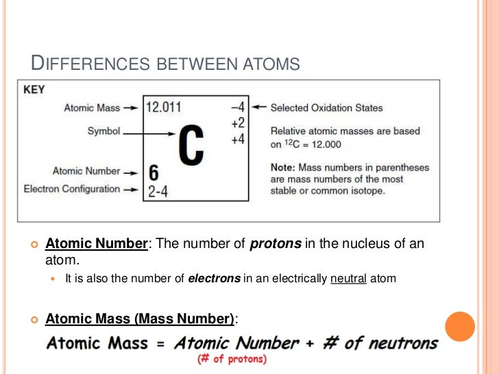 Atomic concepts 16 differences between atoms urtaz Choice Image