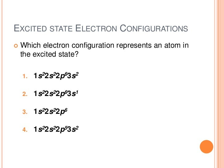 how to find ground state electron configuration