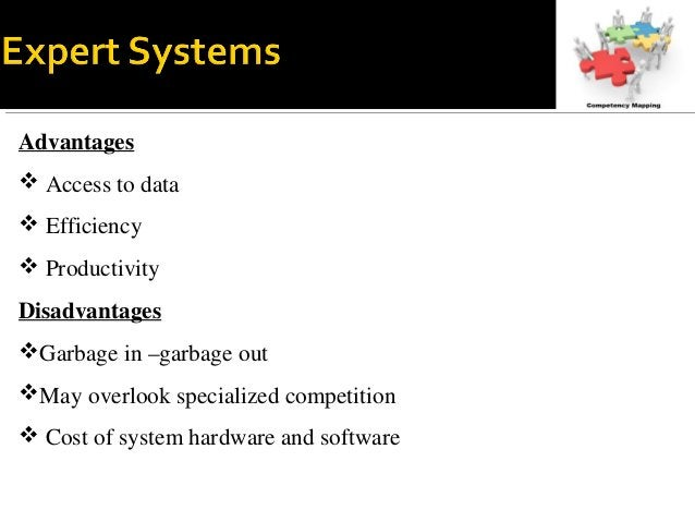 Advantages  Access to data  Efficiency  Productivity Disadvantages Garbage in –garbage out May overlook specialized c...