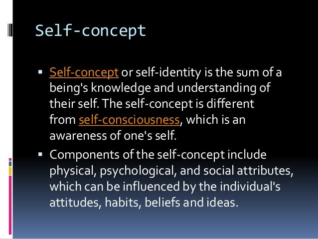 the concept and formation of identity Identity formation vandanathakur asst professor rie bhopal   components of the self-concept include physical, psychological, and.