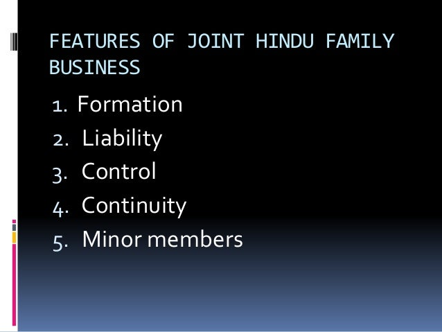joint family business