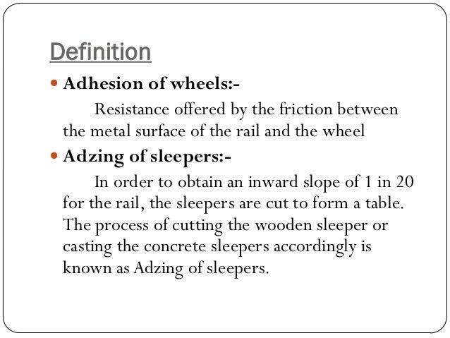 Adzing Of Sleepers In Railway Railway Engineering 1220mm