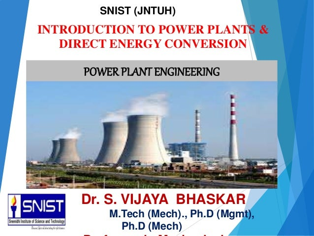 Introduction To Power Plants Direct Energy Conversion