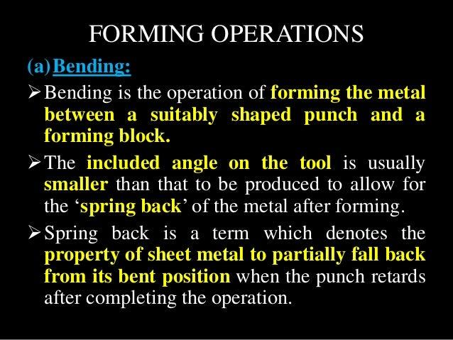 Unit 4-SHEET METAL PROCESSES