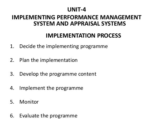 IMPLEMENTATION PROCESS 1. Decide the implementing programme 2. Plan the implementation 3. Develop the programme content 4....