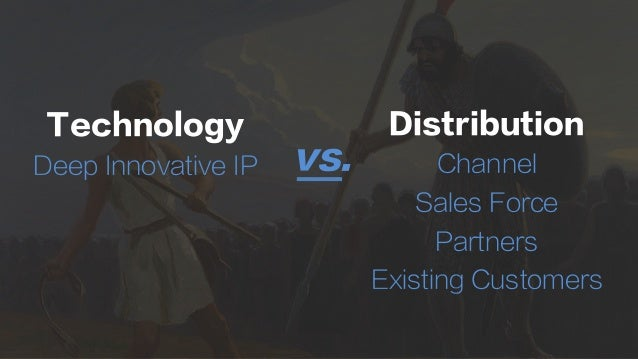 Technology Deep Innovative IP Distribution Channel Sales Force Partners Existing Customers vs.