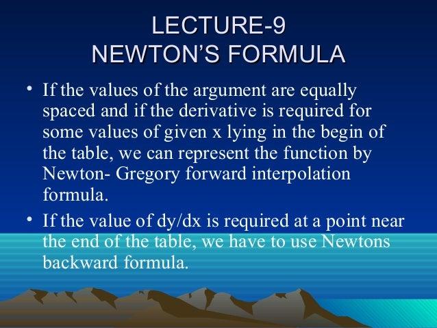newton gregory forward interpolation formula pdf