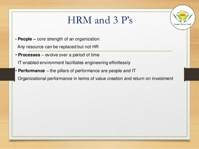 The impact of hrm polices on