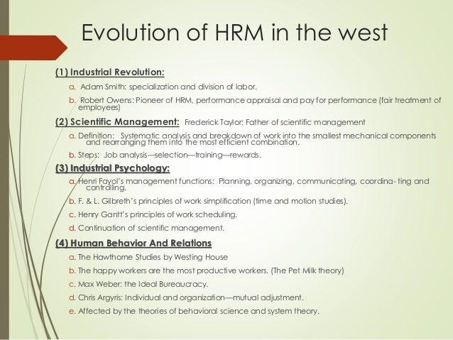 Evolution Of Hrm Environment