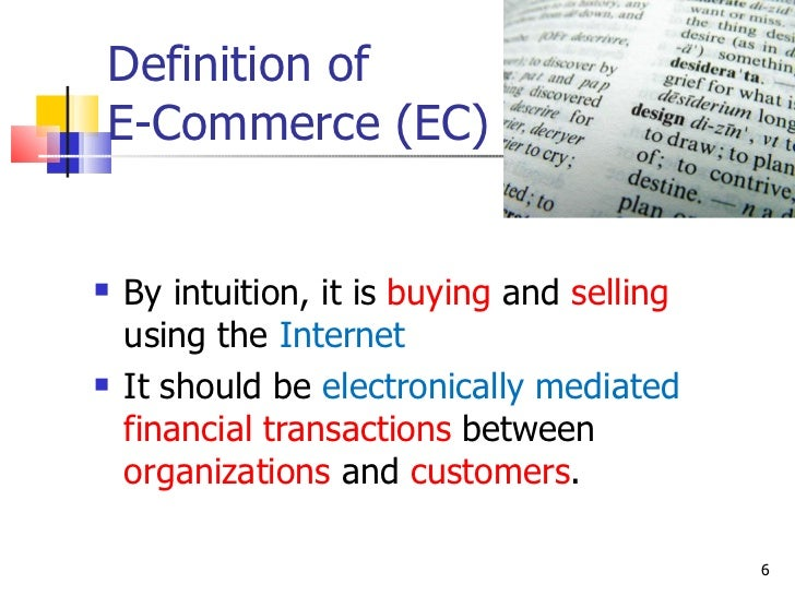 introduction to e business e commerce This gives a basic introduction to ecommerce and ebusiness.
