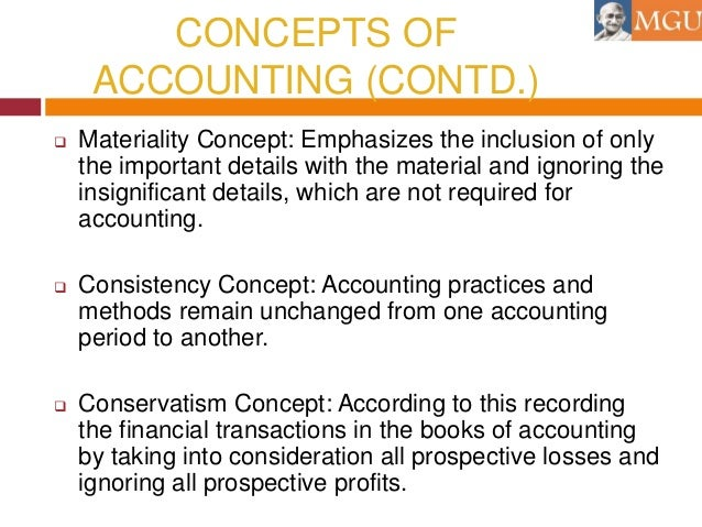 Accounting Concepts Materiality