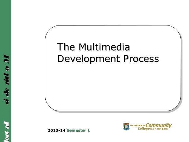 IntroIntroMultimediaMultimedia TThe Multimediahe Multimedia Development ProcessDevelopment Process 2013-142013-14 Semester...