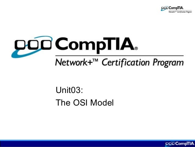 Unit03: The OSI Model