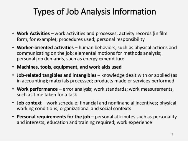 Job Analysis And Design