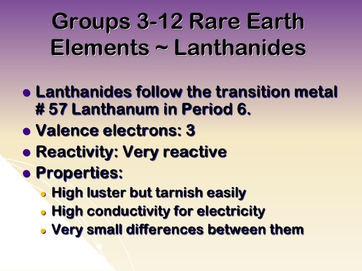 what are lanthanides and actinides