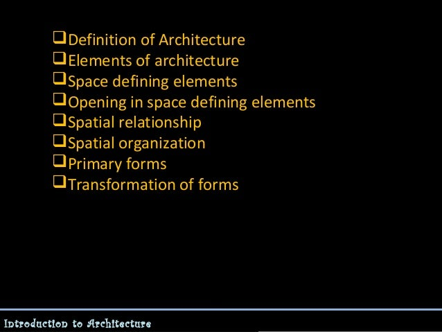 Spatial organization essay for Spatial organization in architecture definition